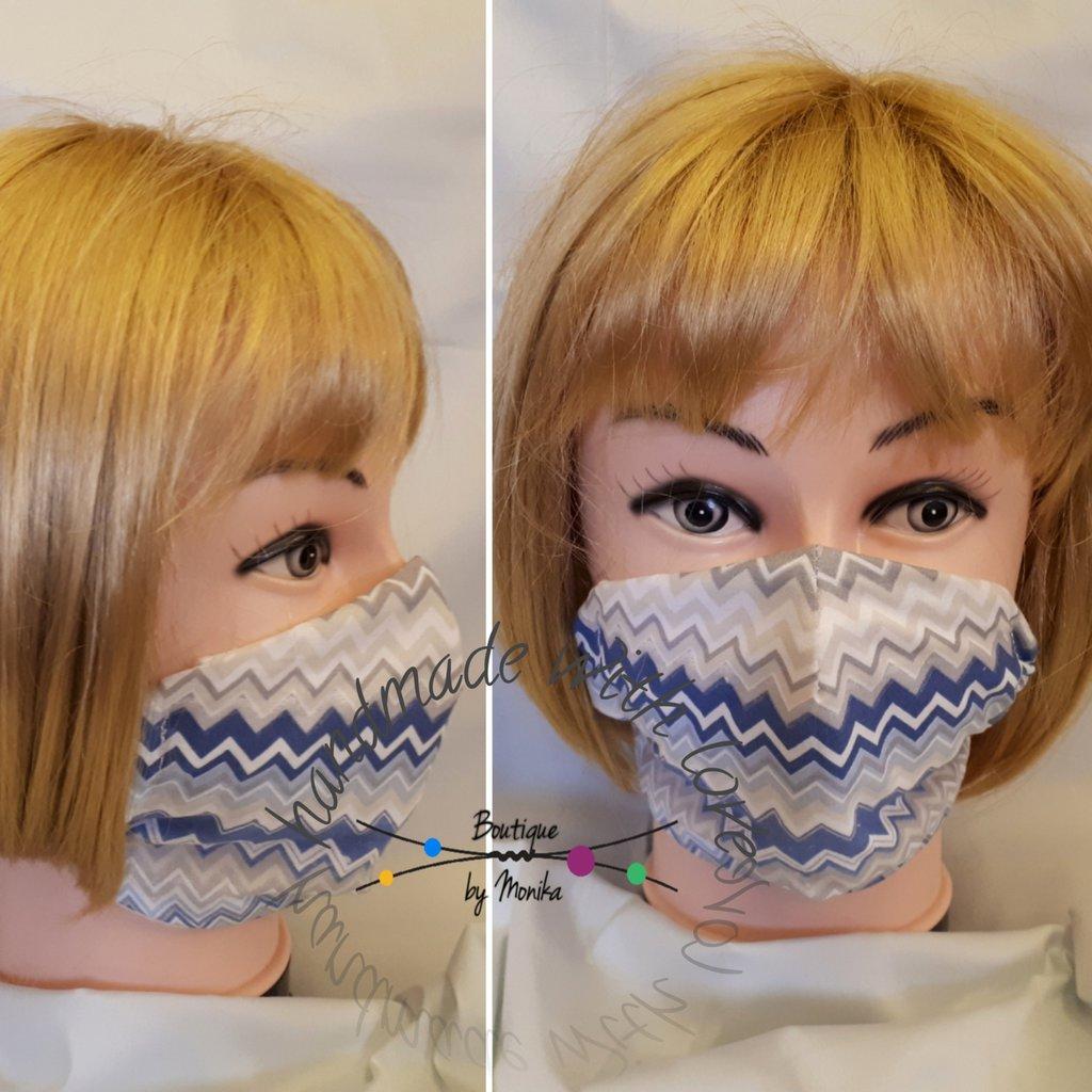 Mascherina viso con tasca filtro lavabile