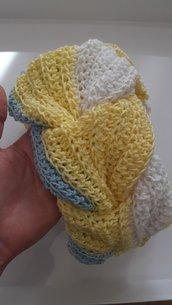 Scaldacollo donna in cotone scaldacollo fatto a mano scaldacollo treccia colorato