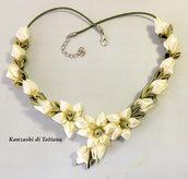 Collana kanzashi con fiori 6.1