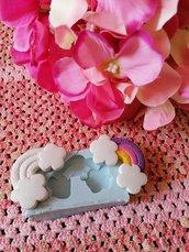 Stampo arcobaleno in gomma siliconica professionale da colata