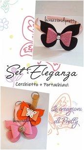 SET ELEGANZA (Cerchietto + Portachiavi)