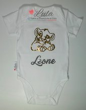 Body Simba Re Leone nome dedica personalizzata idea regalo nascita battesimo baby shower