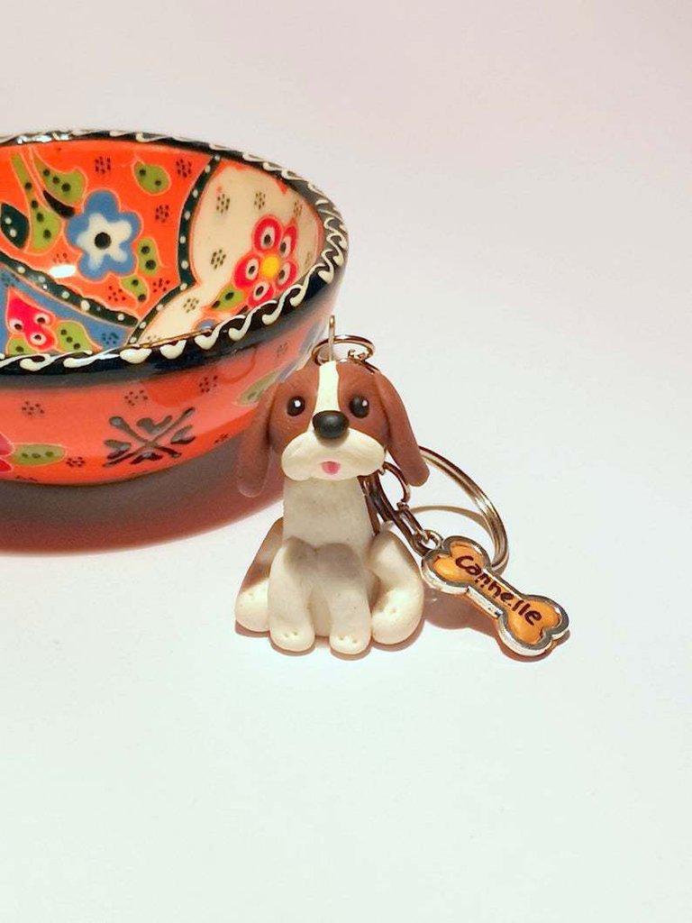 Portachiavi Cavalier King Charles in fimo, miniatura cavalier, regalo compleanno, regalo cane, appassionati di cani, gioielli animali