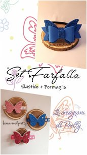 SET FARFALLA (Coppia elastici + Coppia fermagli)
