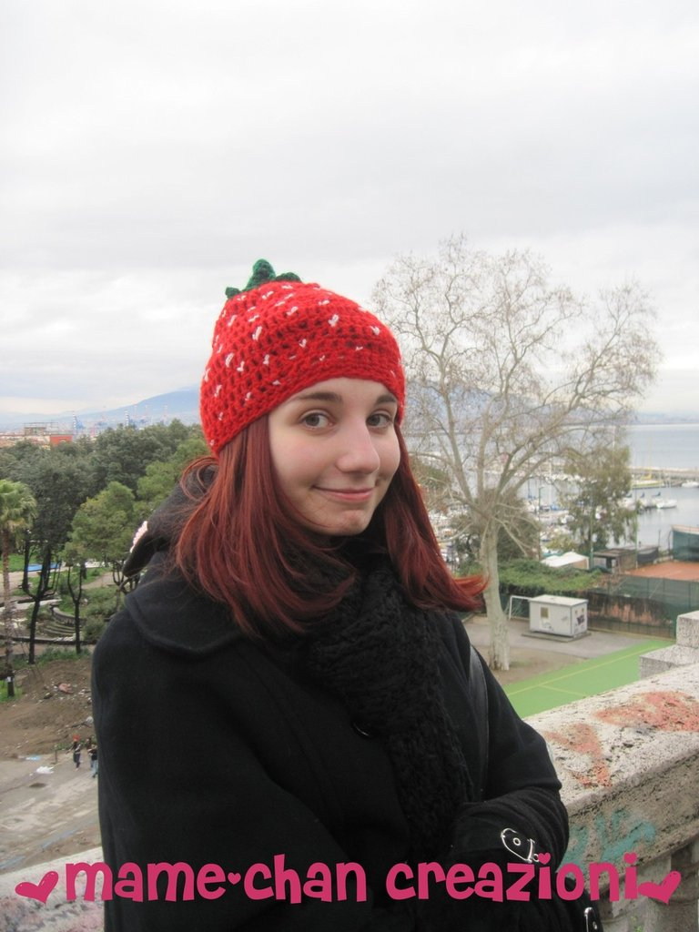 Cappello Fragola - strawberry hat