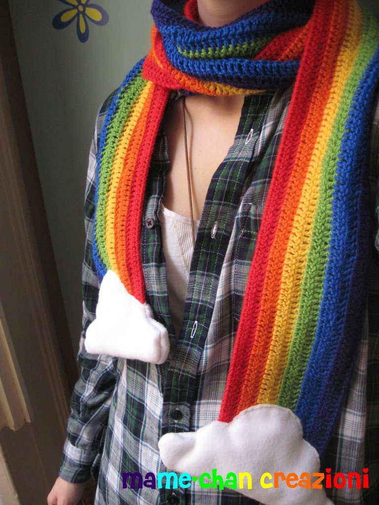 sciarpa arcobaleno