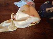 Bandana pirata baby 1- 2 anni fantasia gialla.