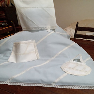 lenzuolino batista completo di cuscino