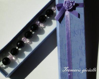 Bracciale in onice nero sfaccettato/Faceted black onyx bracelet