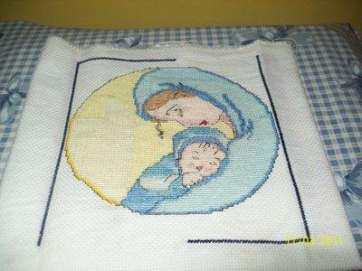 aplicazione ricamata a mano per cuscino o quadretto
