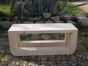 Panca in legno, seduta in legno di abete, panca per esterno-interno