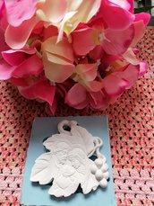 Stampo foglia sacra famiglia in gomma siliconica professionale da colata