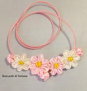 Collana kanzashi con fiori  6.4