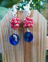 Orecchini cavalluccio Marino rosso blu argento