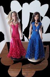 Vestiti Barbie lunghi eleganti.