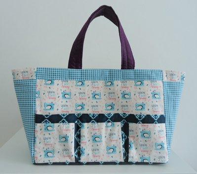 borsa patchwork porta cucito