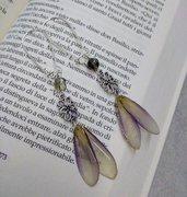 Orecchini lunghi donna orecchini fatti a mano petali di dalia ciondolo resina fiori veri