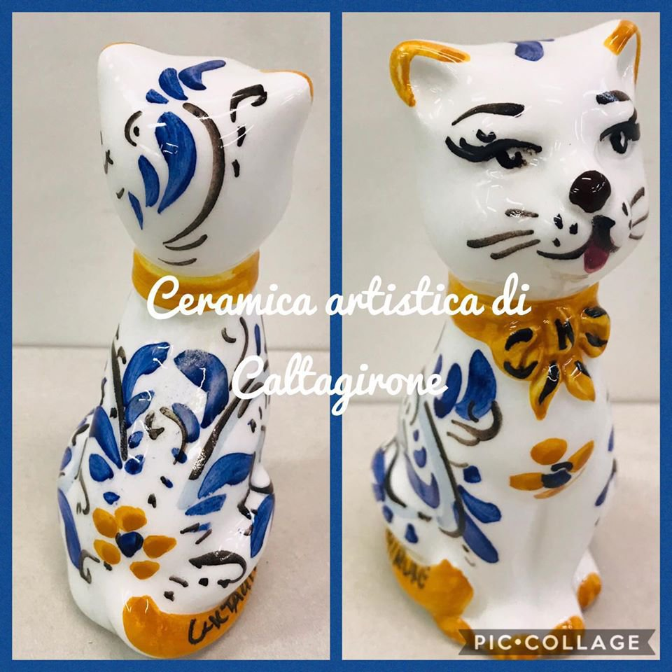 gattino in ceramica di Caltagirone