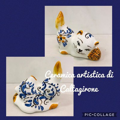 gattino in ceramica di Caltagirone