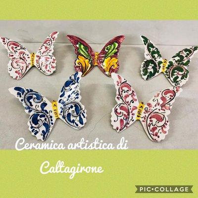 Farfalle in ceramica di Caltagirone
