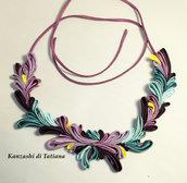 Collana kanzashi con fiori 6.6