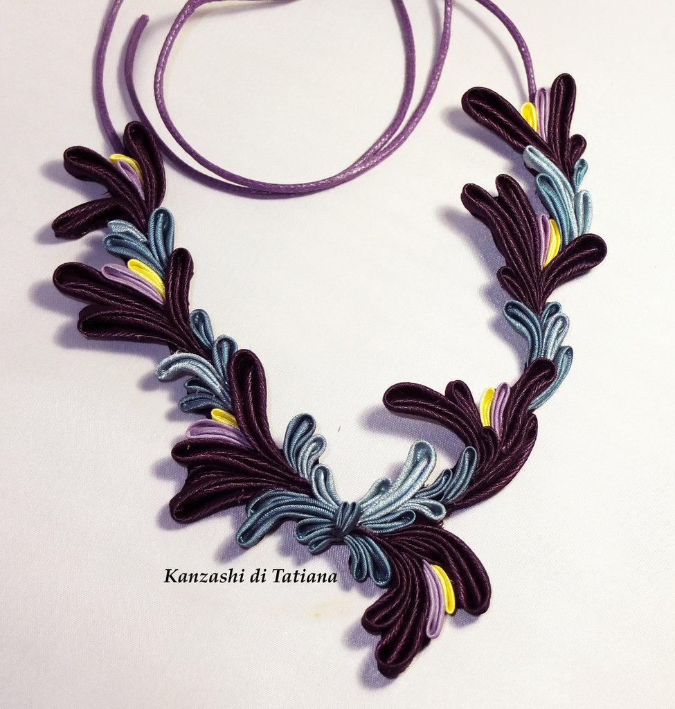 Collana kanzashi con fiori 6.9