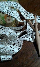 Pizzo bordo merletto fuselli vintage