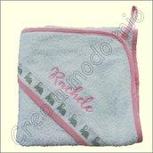 Asciugamano a triangolo : coniglietti