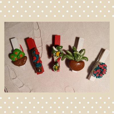 Mollettine in legno decorate