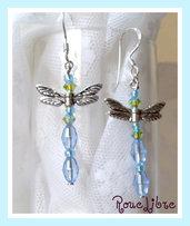"""Boucles d'oreilles  """" libellules  bleue """""""