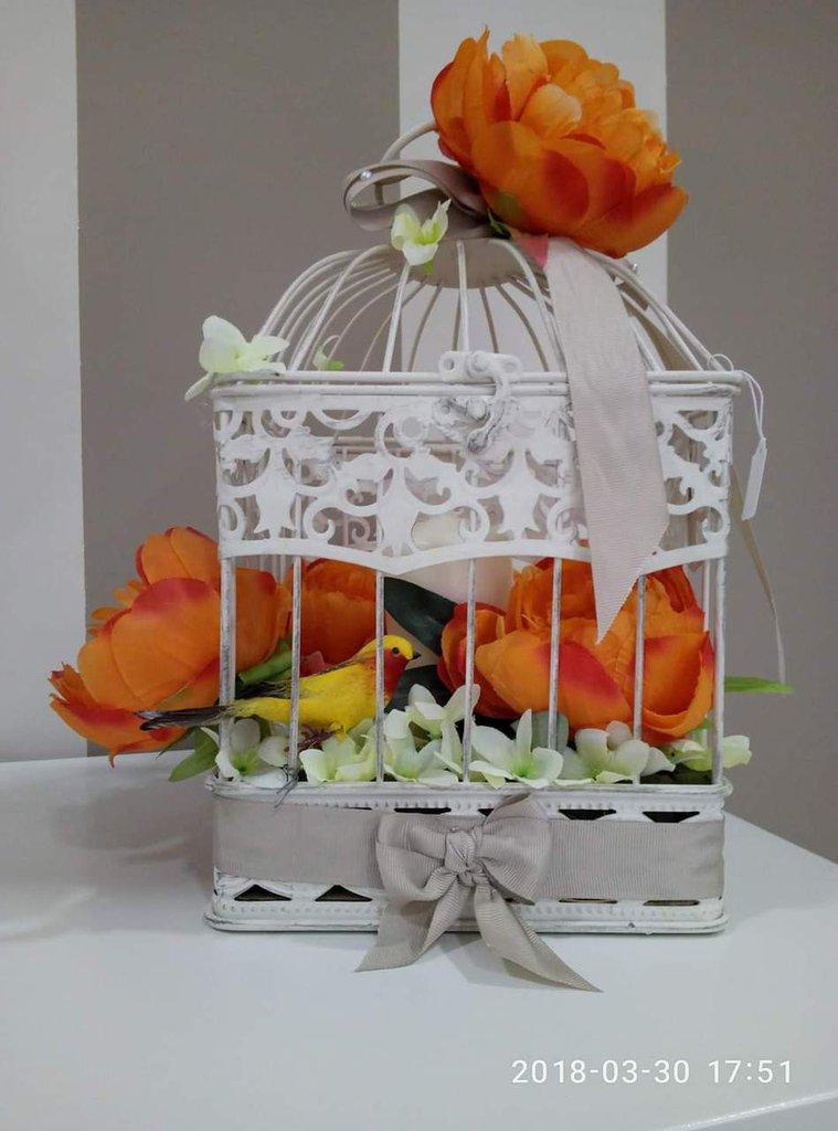 Gabbietta decorativa fiori
