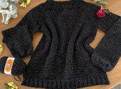 Maglione donna glitter