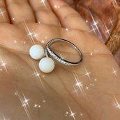 Anello perle di latte
