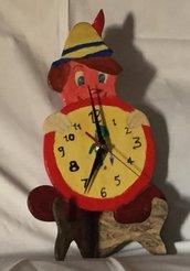 Orologio in legno Pinocchio