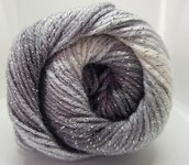 Ice Yarns Magic Glitz - acrilico e lurex - White Silver Grey Black fnt2-22049
