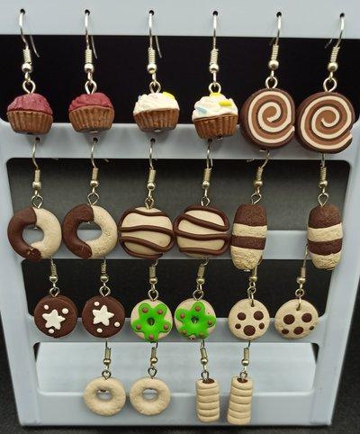 orecchini biscotti in fimo