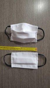 Mascherine misura per BAMBINI DA RICAMARE TELA AIDA IDA PUNTOCROCE LAVABILI COTONE 3 STRATI