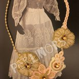 Collana Spring Flowers in embroidery e soutache