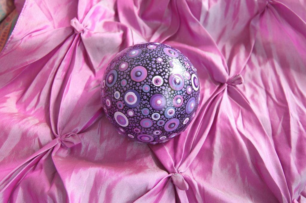 """Pietra mandala per meditazione """"La galassia viola"""""""
