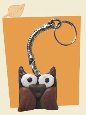 Portachivi gufetto owl in cernit