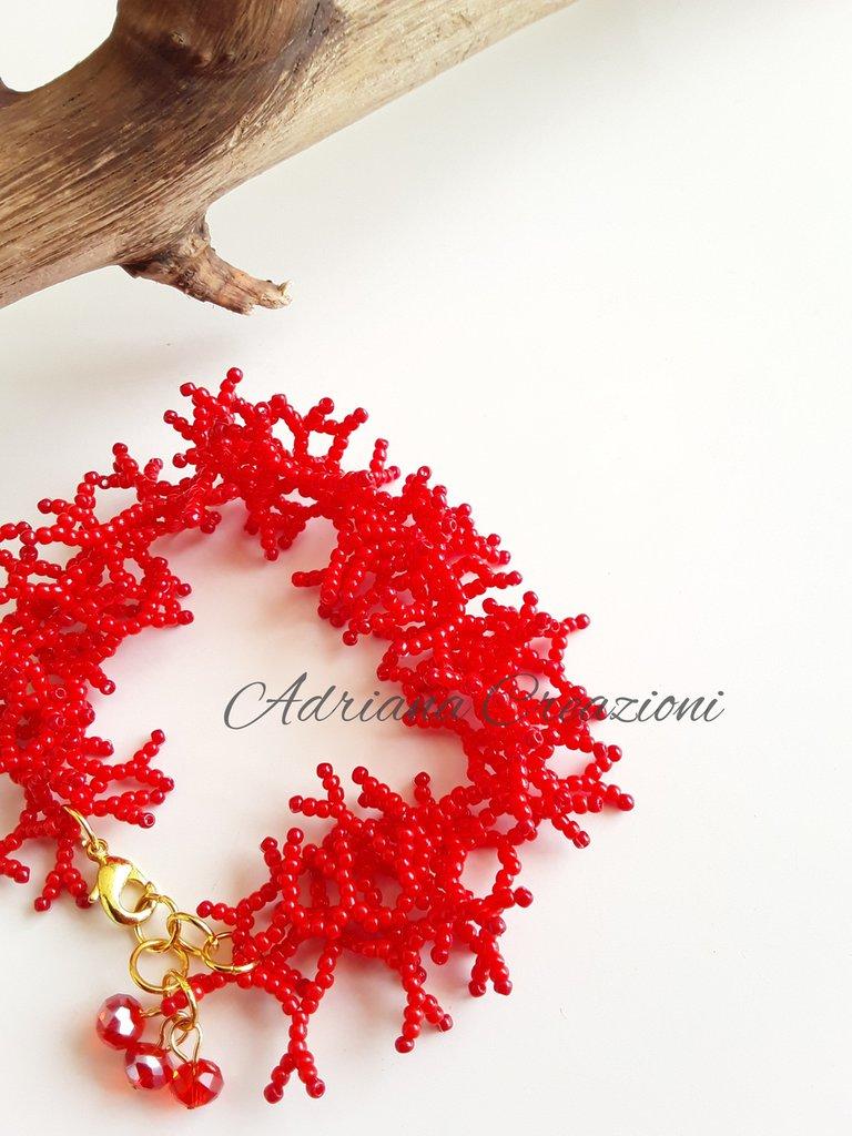 Bracciale Frances realizzato in tessitura peyote
