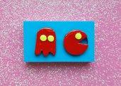 Stampo in gomma siliconica Pacman e Fantasmino