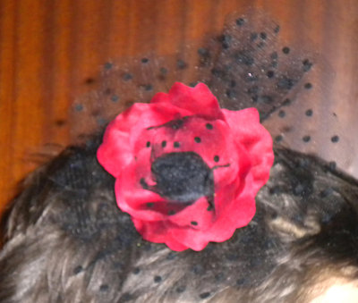 Fascinator rosa rossa