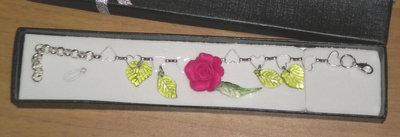 Bracciale con rose magenta