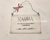 Idea regalo festa della mamma - targa personalizzata con nomi
