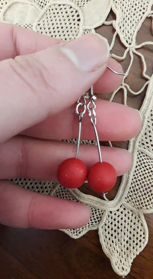 Orecchini con perle in fimo
