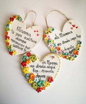Per la Festa della Mamma cuore in ceramica con una dedica speciale.