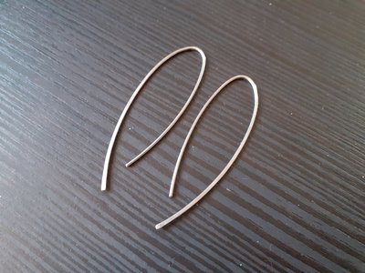 Orecchini minimal in acciaio