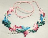 Collana kanzashi con fiori 7.1