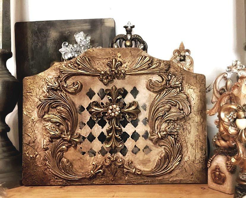 Pannello hand made  decorato a mano